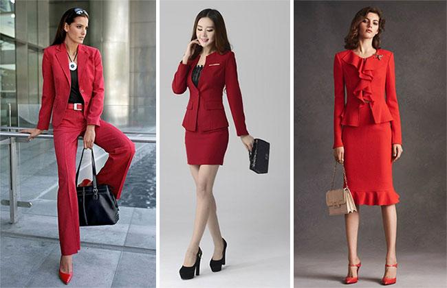 Красные деловые костюмы для женщин