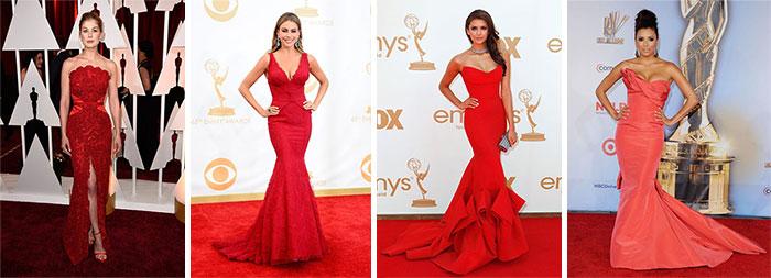 Знаменитости в вечерних красных платьях 2