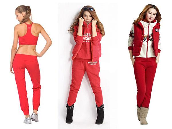 Женские спортивные остюмы красного цвета