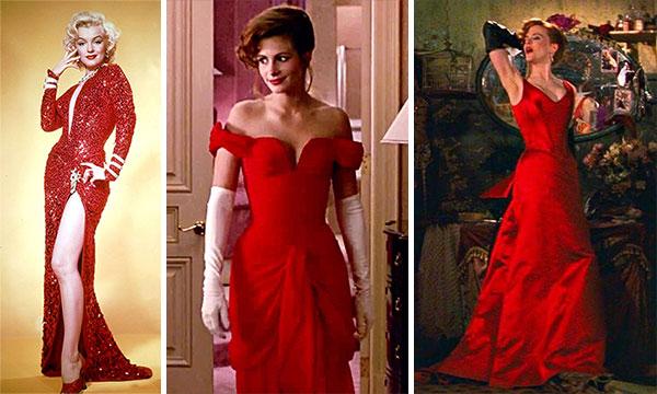 Красные платья из известных кинофильмов