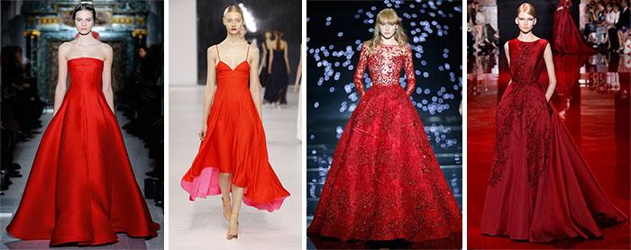 Красные вечерние платья от кутюр