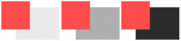 Сочетание красного с белым, серым и черным цветами