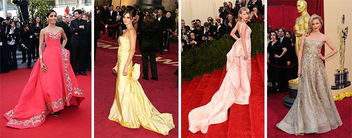 Знаменитости в платьях Oscar de la Renta