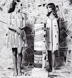Платья из бумаги Paco Rabanne