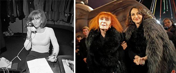 Соня Рикель в молодости. Соня и Натали Рикель