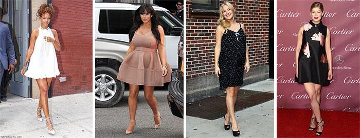 Знаменитые женщины в платьях беби-долл